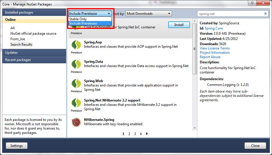 Spring NET - Application Framework